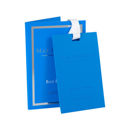 Blue Flowers Scented Card Blue