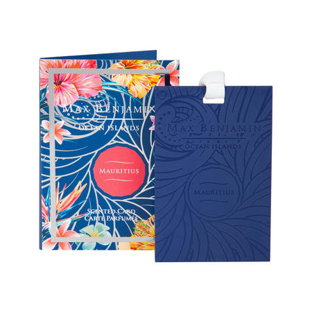 Ocean Islands Mauritius Scented Card Blue