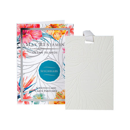 Ocean Islands Seychelles Scented Card White