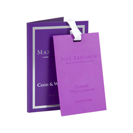 Cassis & White Jasmine Scented Card White