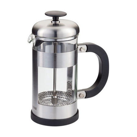 Three-Cup Stainless Steel Glass Cafetiere