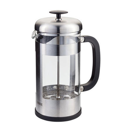 Eight-Cup Stainless Steel Glass Cafetiere