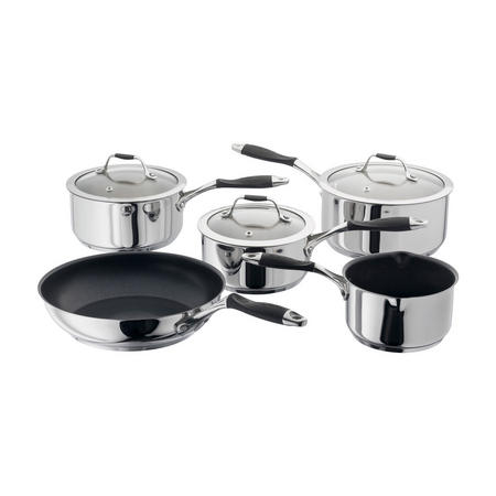 Stellar James Martin JM, 5 Piece Saucepan Set, Non-Stick