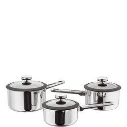 Stay Cool 3 Piece Draining Saucepan Set
