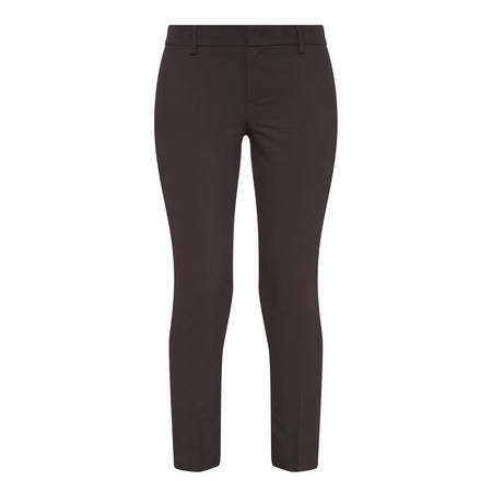 Mid-Rise Crepe Trousers