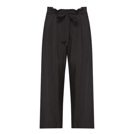 High waist Cropped Trousers Black