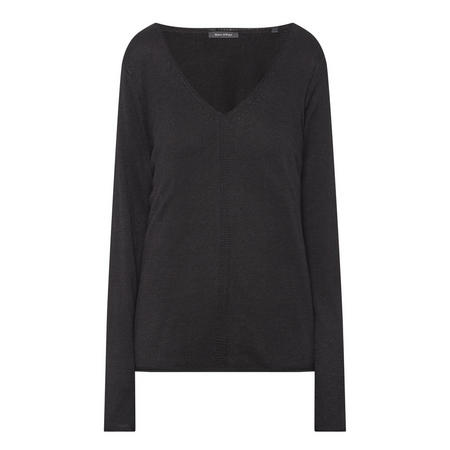 V-Neck Pullover Black