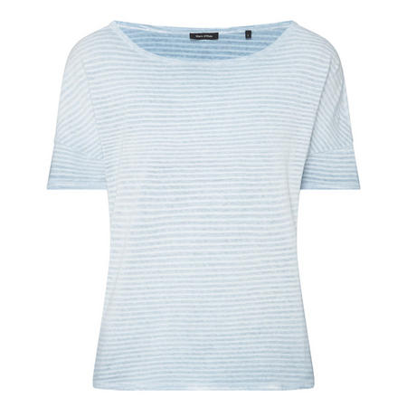 Boat Neck T-Shirt Blue