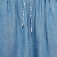 A-Line Denim Skirt Blue