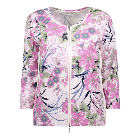 Floral Cropped Sleeve Jacket