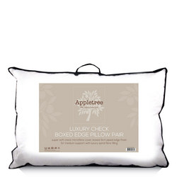 Embossed Microfibre Piped Edge Pillow Pair