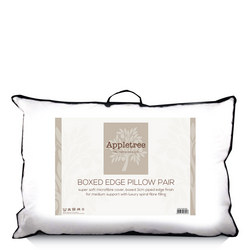 Plain Microfibre 3cm Boxed Edge Pillow Pair