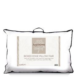 Plain Microfibre 3cm Boxed Edge Pillow Pair
