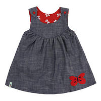 Reversible Butterfly Pinafore Set Yellow