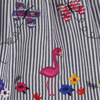 Flamingo Stripe Dress Blue