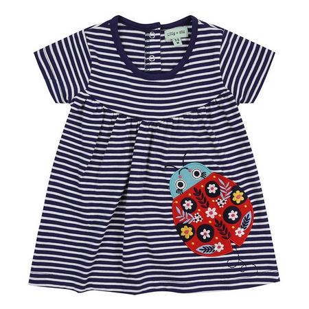 Ladybug Stripe Jersey Dress Navy