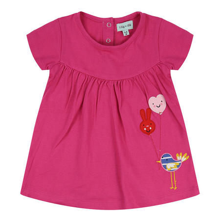 Balloon Birdie Dress Pink