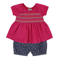 Bloomers And Smock Tunic Set Pink