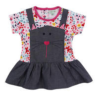 Cat Dress And Leggings Set Multicolour