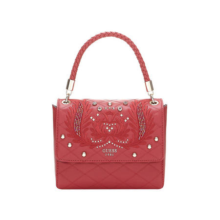 Alessia Applique Top Handle Bag Red