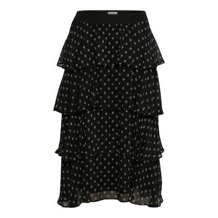 Leckicia Tiered Skirt Black