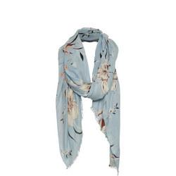 Brixton Floral Scarf Blue
