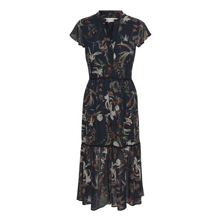 Landea Floral Print Dress Blue