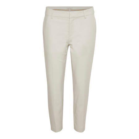 Clea Cropped Trousers Cream