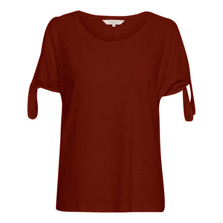 Linda Tie Sleeve Top Red