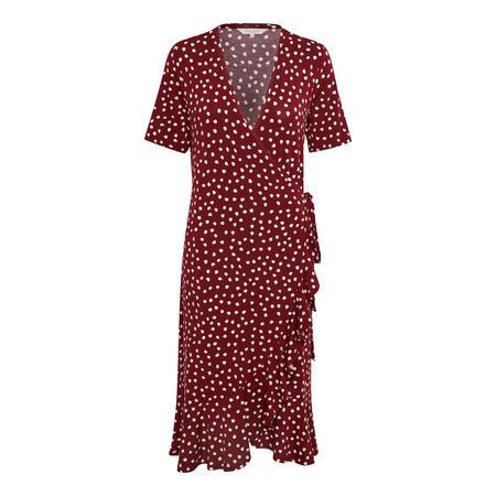 Lavandra Wrap Dress Red