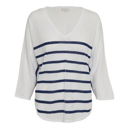 Hido Striped Blouse White