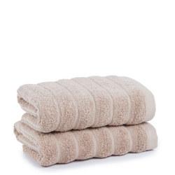 Sevilla Plain Dye Stripe Towel Natural