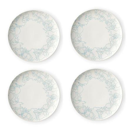 Polar Blue Plate 4 Piece Set 23Cm