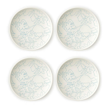 Polar Blue Plate 4 Piece Set 16Cm