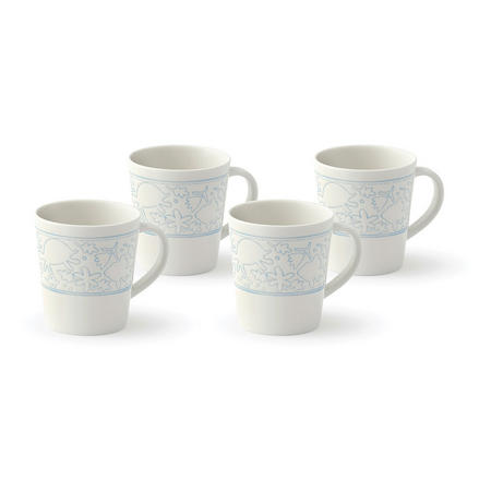 Polar Blue Mugs 4 Piece Set