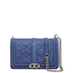 Love Embossed Crossbody Bag Blue