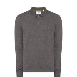 Long Sleeve Ribbed Polo Shirt