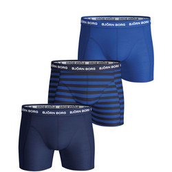 Three-Pack Stripe Print Boxer Shorts