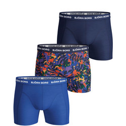 Three-Pack Palm Print Boxer Shorts