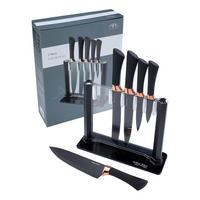 Black/Copper Six Piece Knife Block