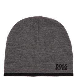 Ribbed Logo Beanie Hat