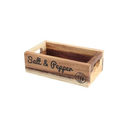 Rustic Acacia Salt & Pepper Crate