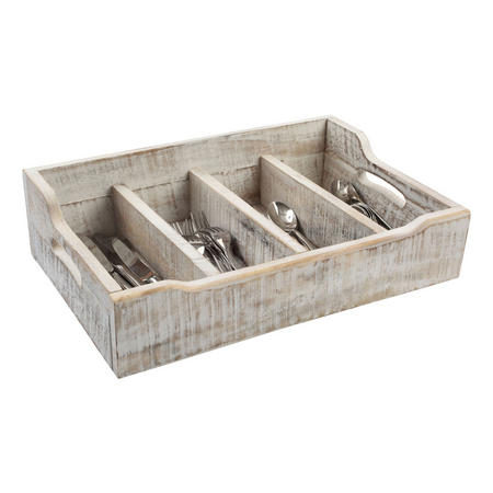 Nordic White Cutlery Tray