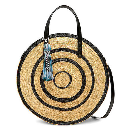 Straw Circle Tote Bag Multicolour