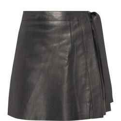 Maria Leather Wrap Skirt