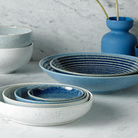 Studio Blue Flint Large Ridged Bowl