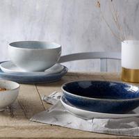 Studio Blue 4 Piece Medium Coupe Plate Set
