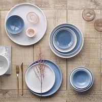Studio Blue Chalk Small Shallow Bowl