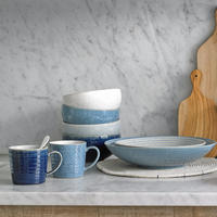 Studio Blue Pebble Medium Ridged Bowl
