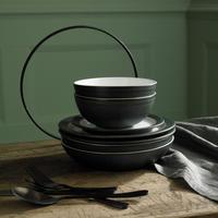 Natural Charcoal Pasta Bowl